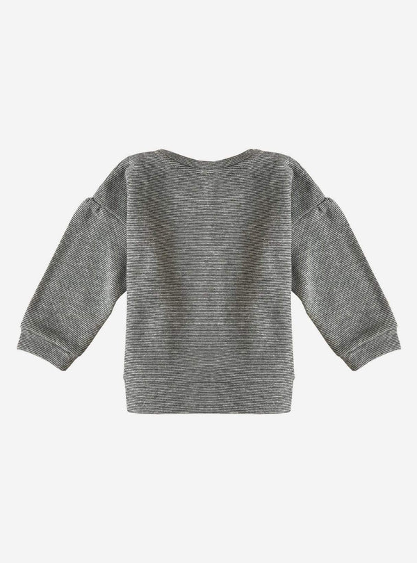 studio JUX Kids tops Thick melange baby oversized sweater - grey stripe