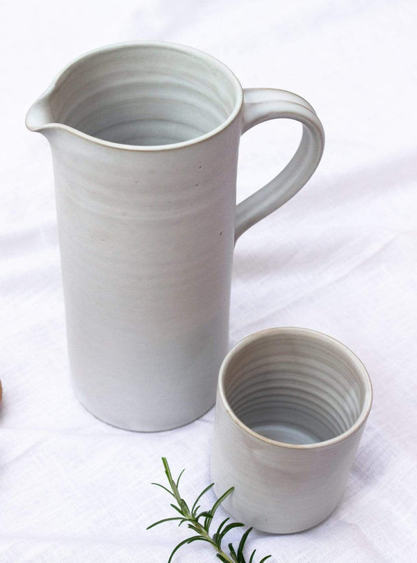 studio JUX Kitchen Matt ceramic - straight jug - white