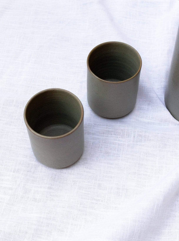 studio JUX Kitchen Matt ceramic - tall teacups - beige