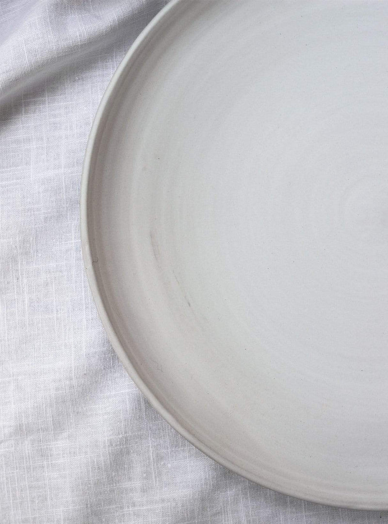 studio JUX Kitchen matt white Ceramic - plate L 30 cm
