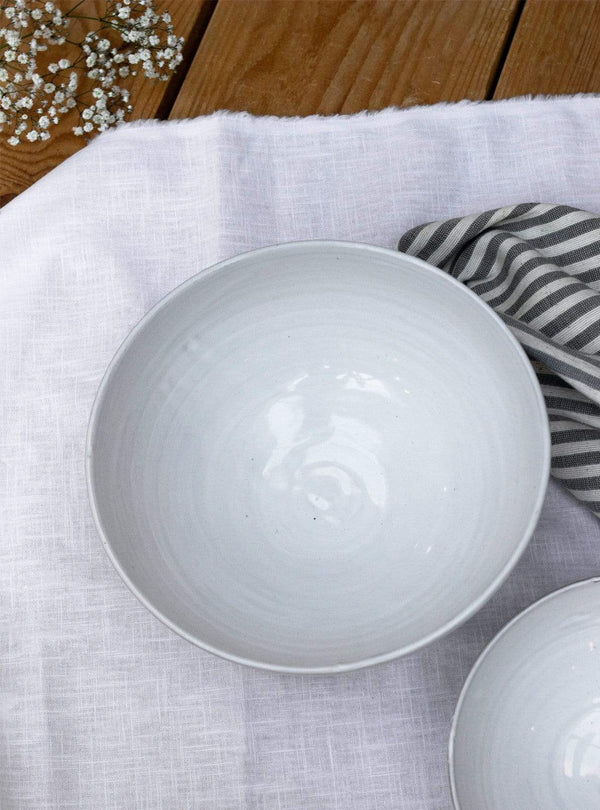 studio JUX Kitchen Shiny ceramic - bowl M 20 cm - white