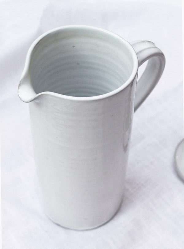 studio JUX Kitchen Shiny ceramic - straight jug - white