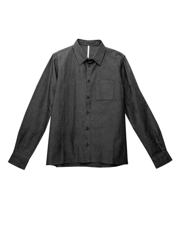studio JUX Mens shirts Handwoven cotton - shirt - black