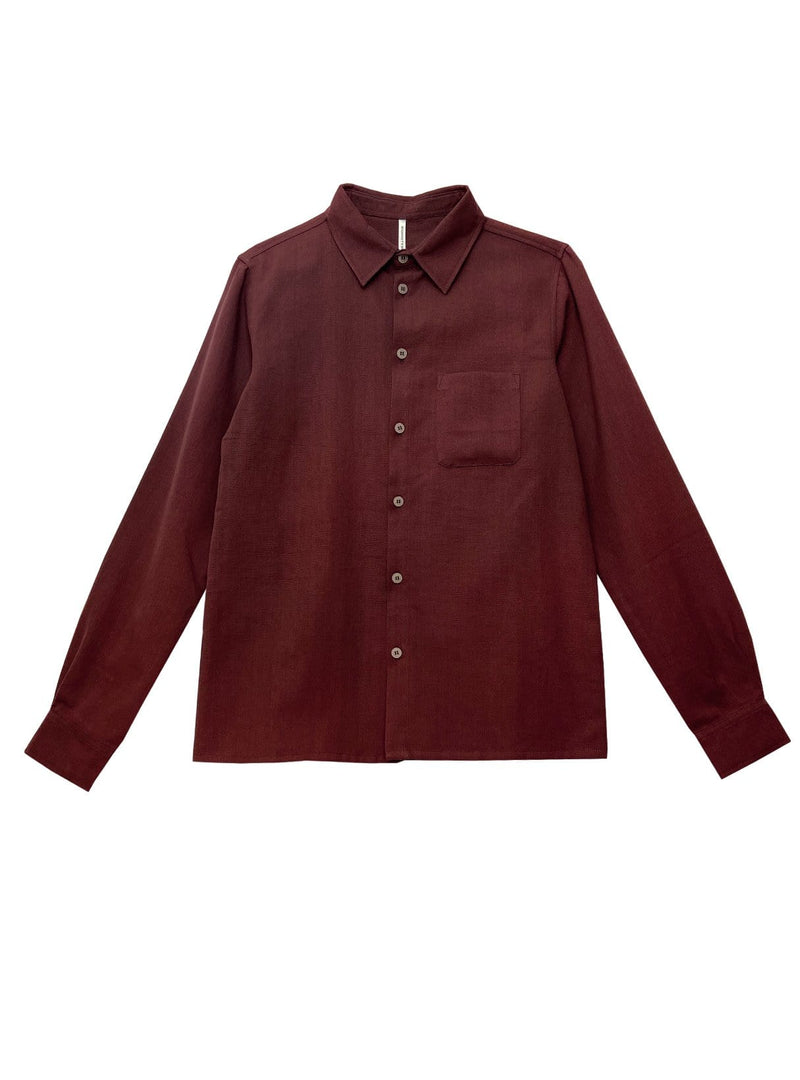 Handwoven cotton - shirt - red nomad