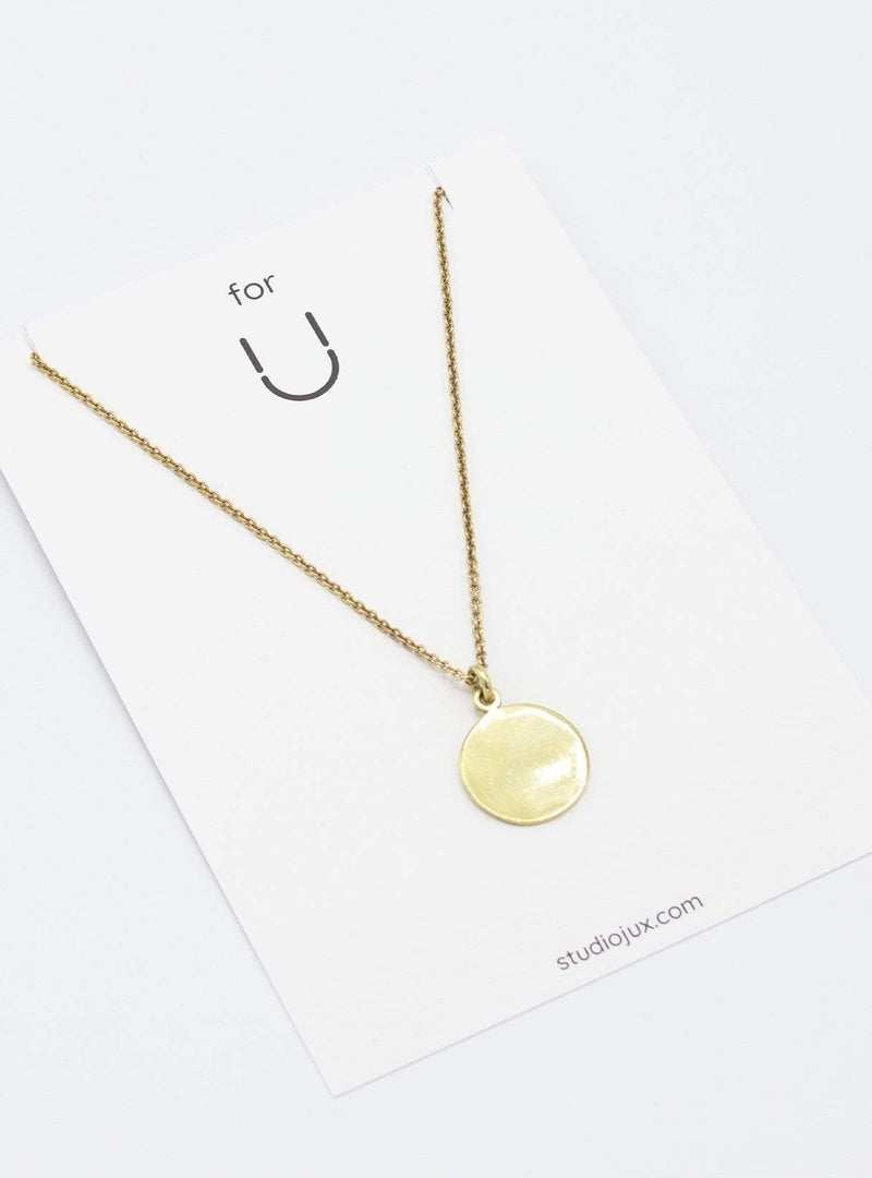 studio JUX Necklaces Necklace round - recycled brass