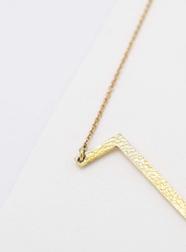 studio JUX Necklaces Necklace zig zag - recycled brass