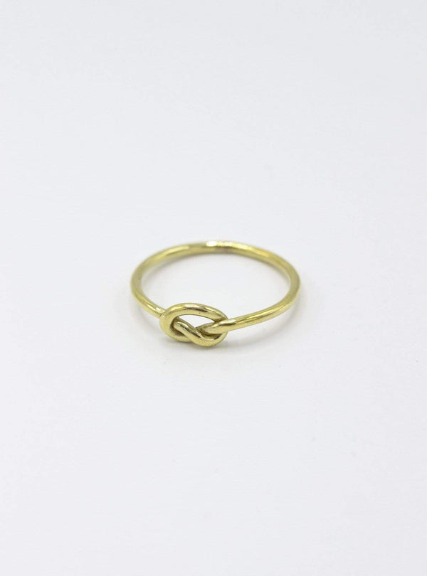 studio JUX Rings Ring knot - recycled brass