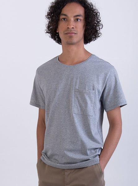 Cotton t-shirt - light grey melange
