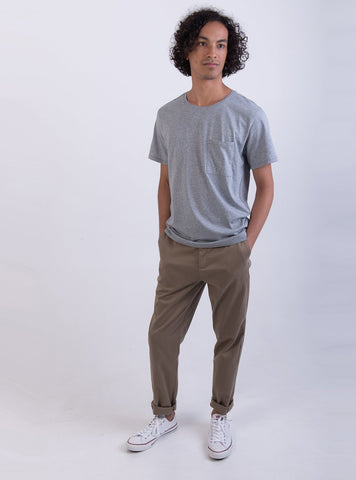 studio JUX t-shirt S Cotton t-shirt - light grey melange