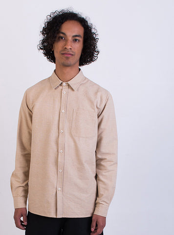 Handwoven cotton shirt - beige
