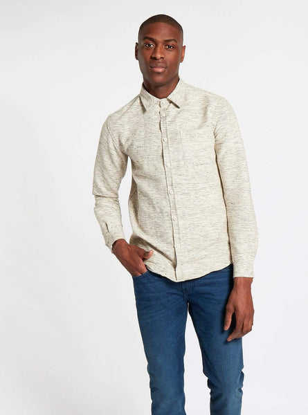 Handwoven shirt - off white melange