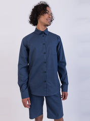 Shirt - navy blue