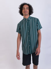 Short sleeve shirt - deep sea stripe