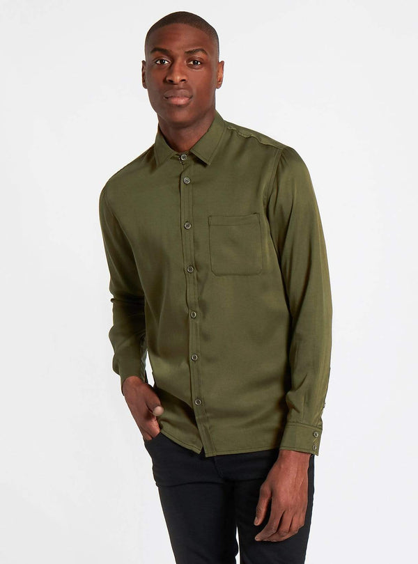 studio JUX shirt Tencel shirt - olive
