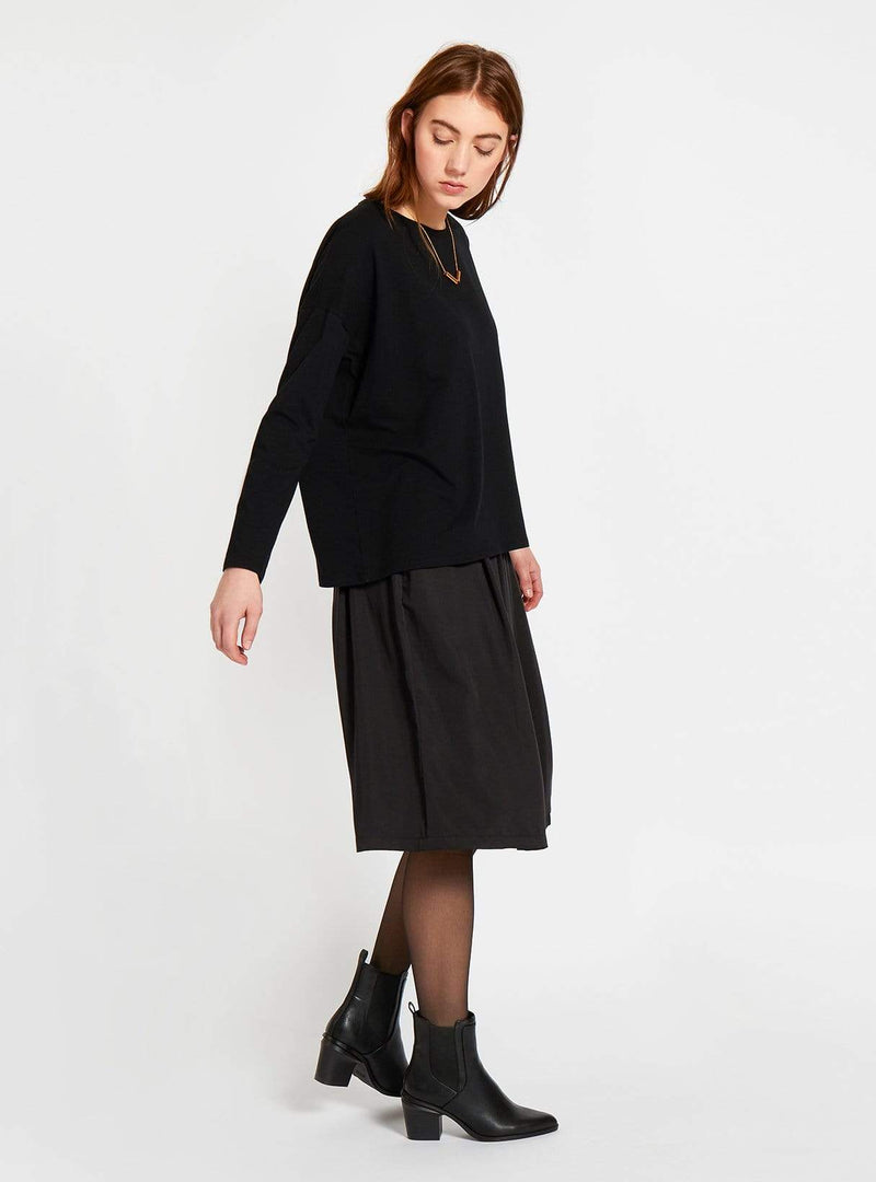 studio JUX skirt Tencel midi skirt - black