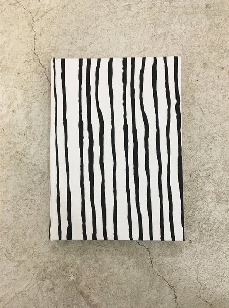 Notebook A5 - black/white stripe