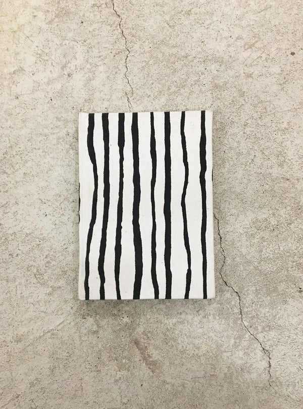 studio JUX stationary Notebook A6 - black/white stripe