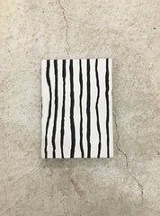 Notebook A6 - black/white stripe