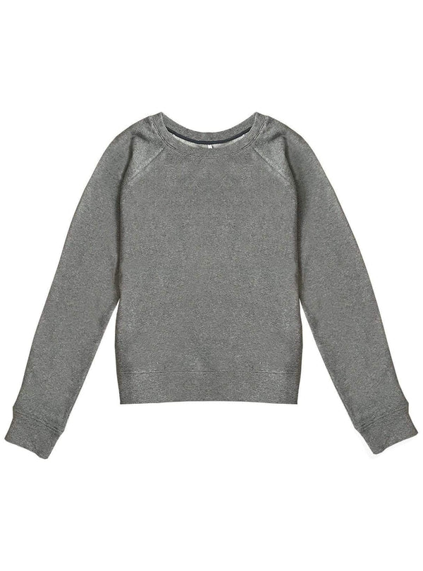 studio JUX sweater Thick melange jersey sweater - grey stripe