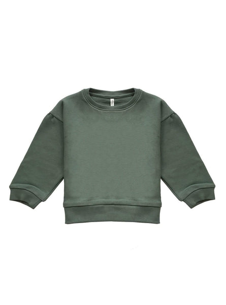 Baby oversized sweater - dark mint