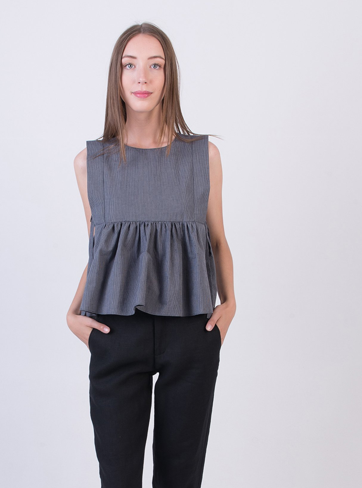 Sleeveless top - blue
