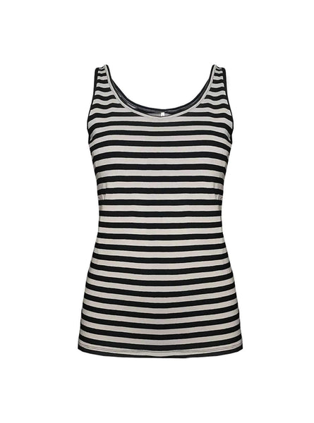 Singlet - black/grey stripe