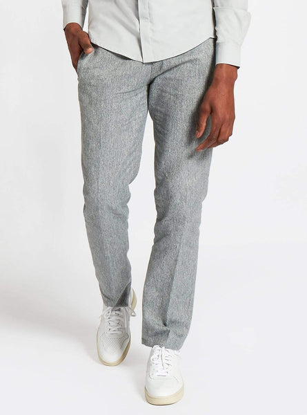 Formal cotton trousers - grey/green melange