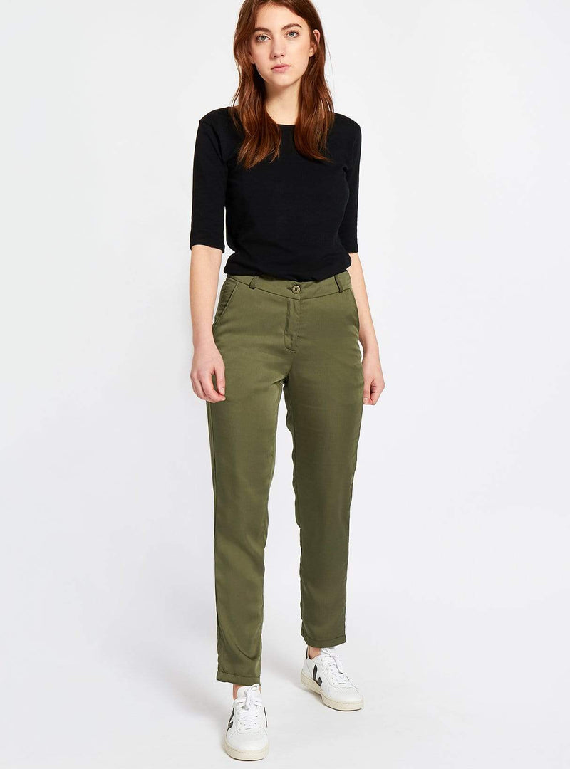 studio JUX trouser Formal tencel trousers - olive