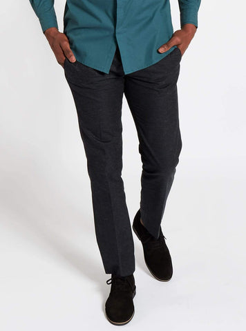 Formal twill trousers - dark blue