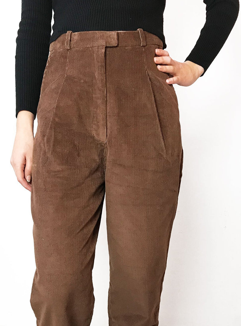 studio JUX trousers 34 Corderoy high waist trousers - artisian brown