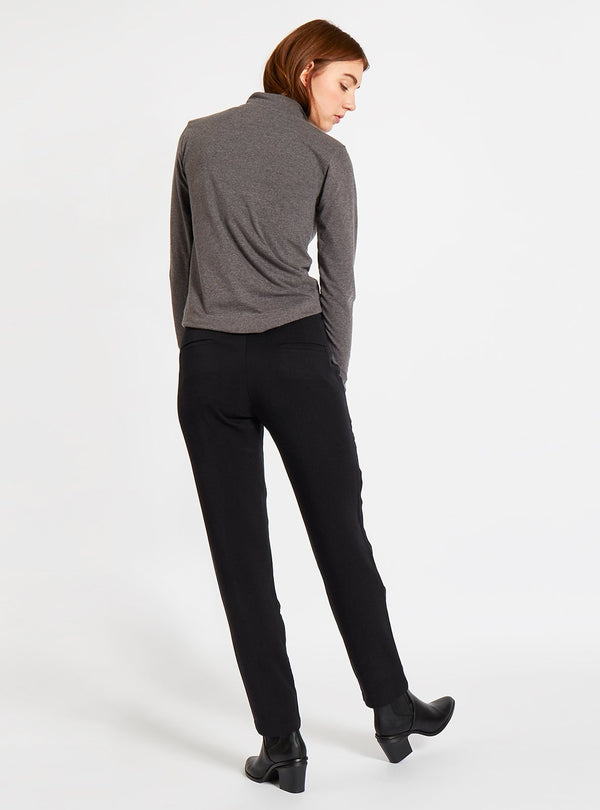 studio JUX trousers 34 Thick tencel formal trousers - black
