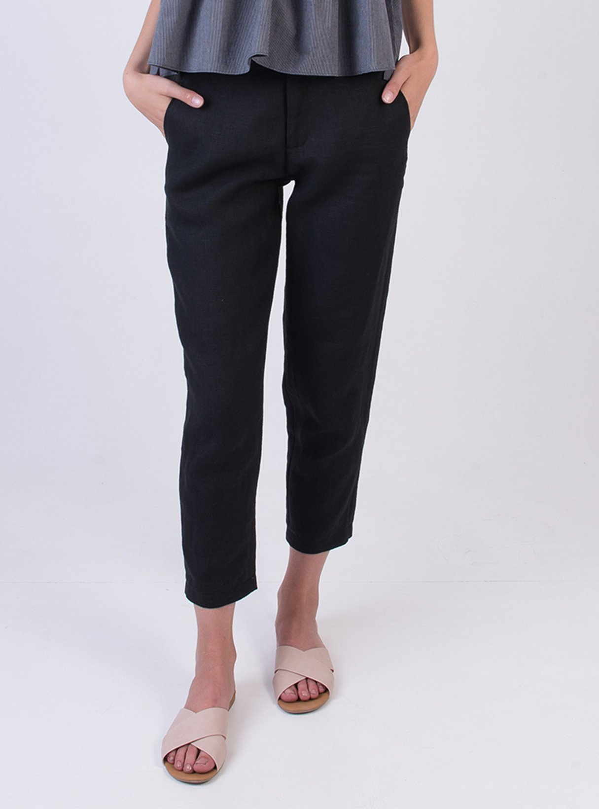 Trousers 7/8 lenght - black