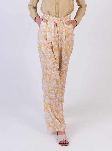 Wide leg trousers - summer flower