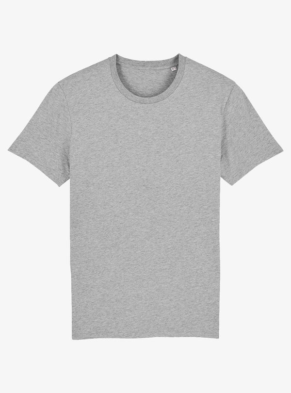 studio JUX Unisex Organic cotton - crewneck t-shirt - heather grey