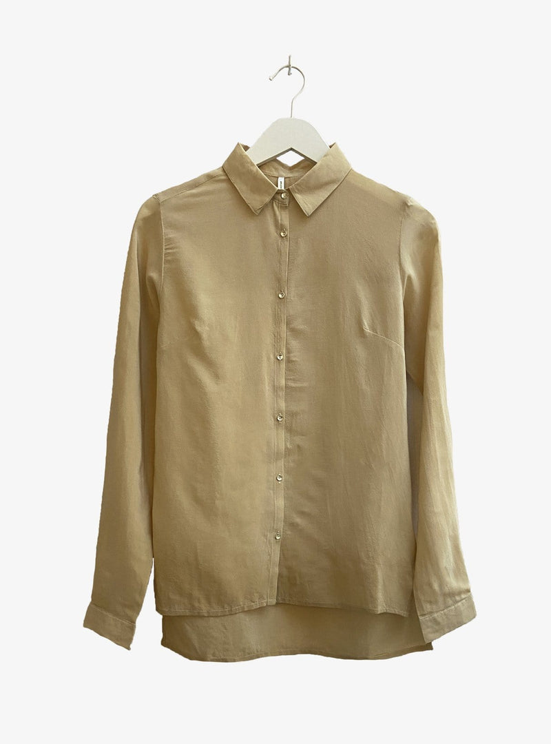 studio JUX Womens blouses 34 Upcycled relaxed blouse - beige