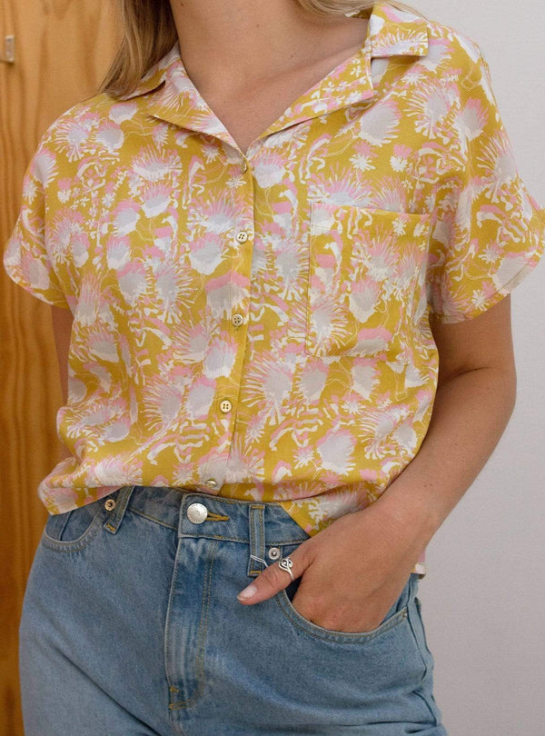 Relaxed fit blouse - summer flower