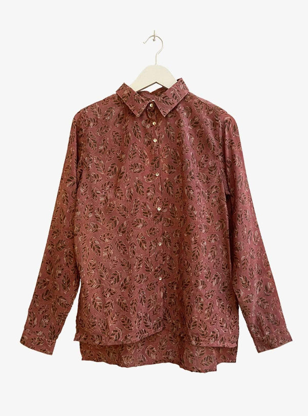 studio JUX Womens blouses Upcycled relaxed blouse - raspberry