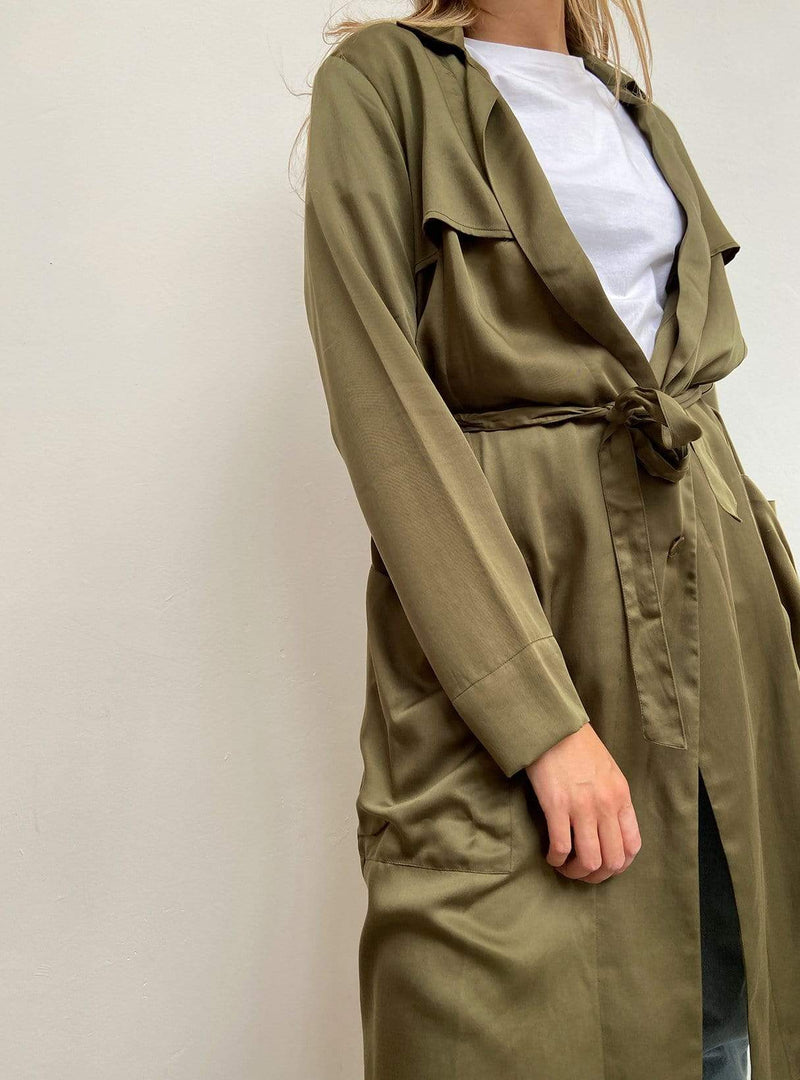studio JUX Womens coats Trenchcoat - olive