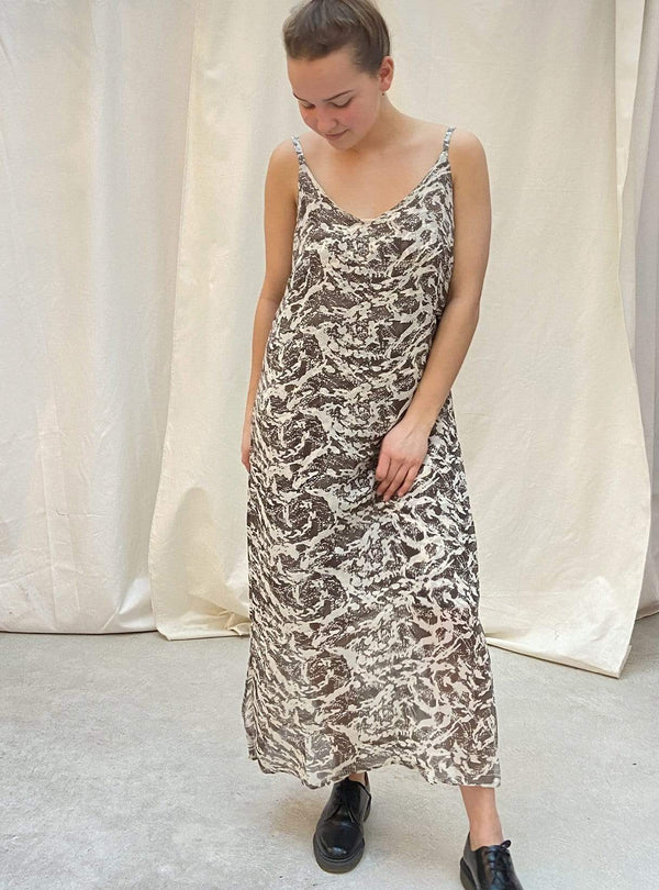 studio JUX Womens dresses 38 Lalitpur - upcycled slip dress - brown beige - size 38