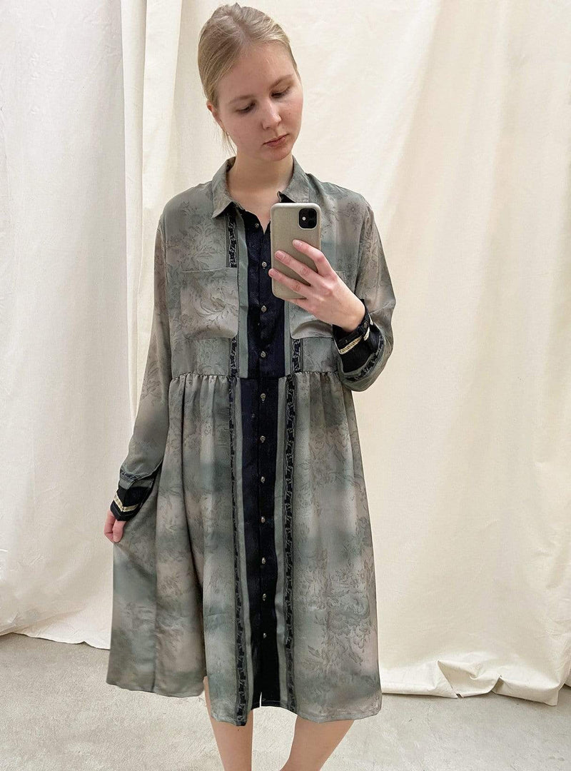 studio JUX Womens dresses 38 Namche boxy shirt dress - grey lilac