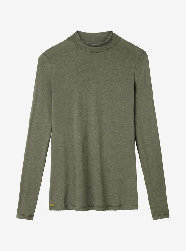 studio JUX Womens tops Bamboo jersey - turtleneck top - army green