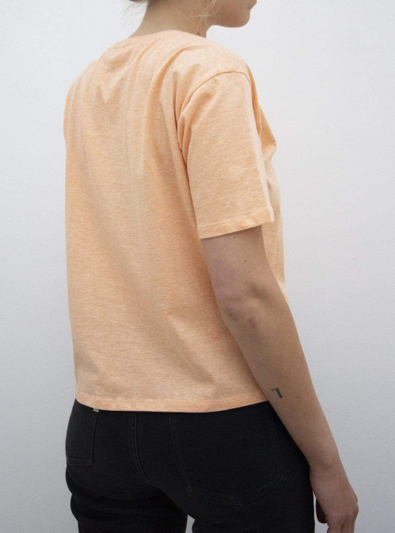 studio JUX Womens tops Crop top - soft orange