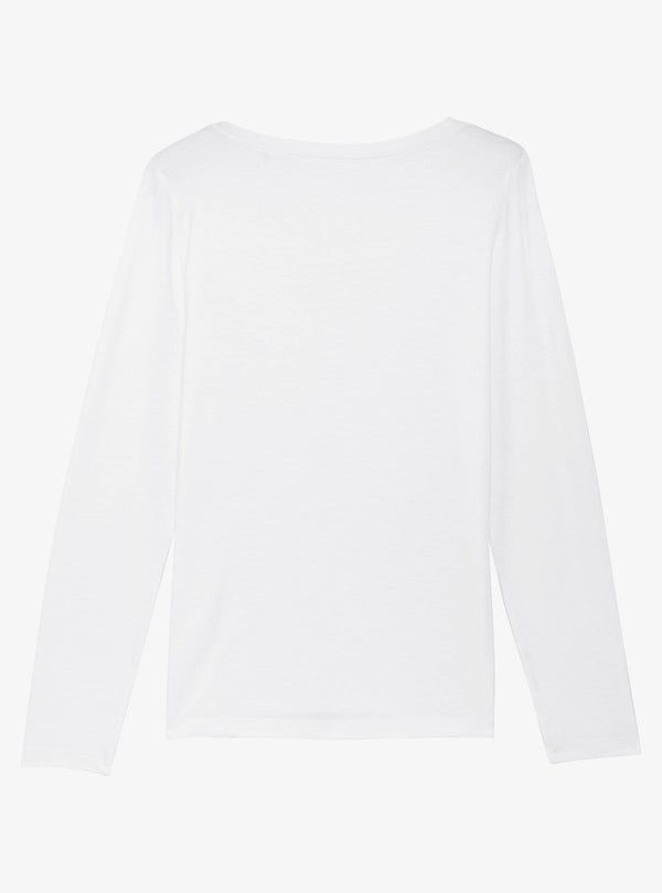 studio JUX Womens tops Long sleeve t-shirt - white