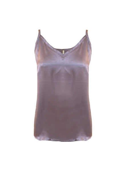 Vegan silk slip top - mauve