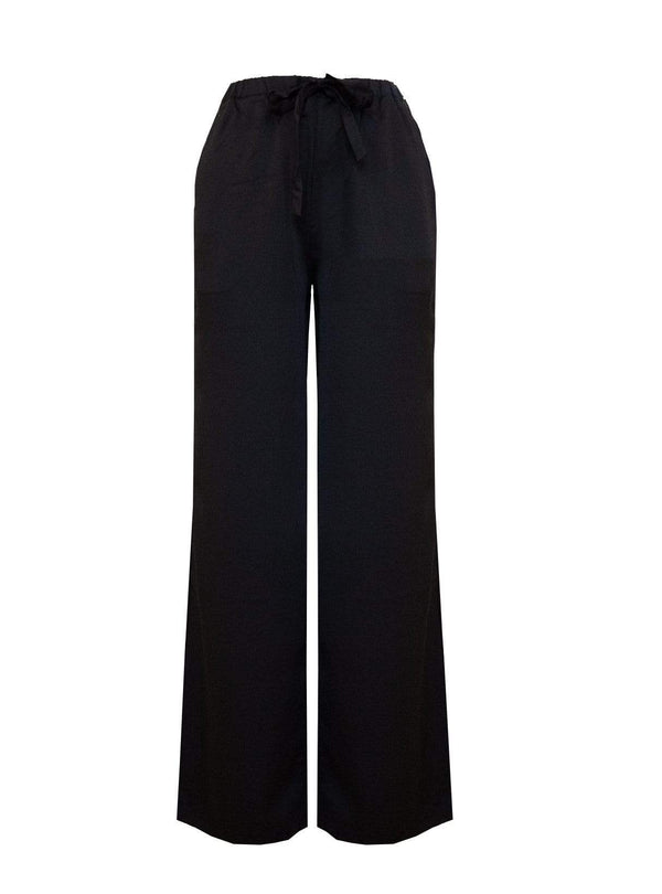 studio JUX Womens trousers Wide leg trousers - black