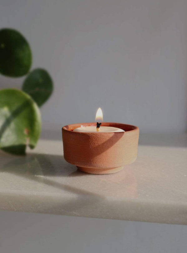Asagiri - tealights + terracotta tealight holder