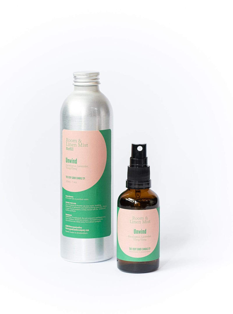 the very good candle co. Candles Unwind - room + linen mist refill - 220ml