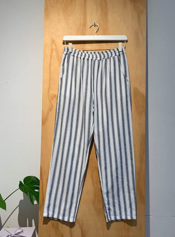 thinking mu Archive sale L Striped trousers - blue/white