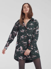 Space rider amanda - shirt dress - scarab green