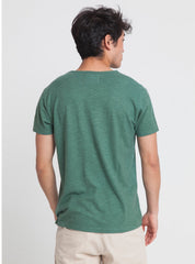 Green hemp t-shirt - green forest